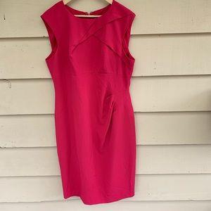 Adrianna Papell Pink High Neck Midi Dress 16